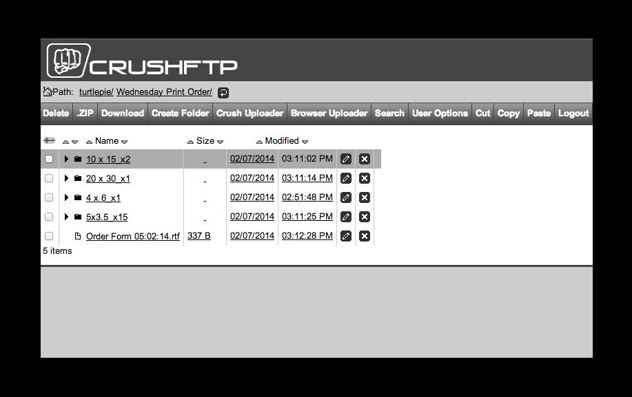 crush FTP uploader